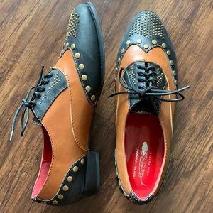 Jeffrey Campbell Capone Oxford Two Tone Shoe sz 8